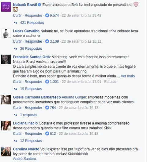 Marketing Digital: conversa nubank e cliente que a cadela comeu o cartao